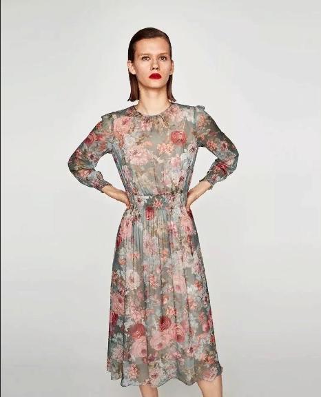 Zara Шифоновое Платье