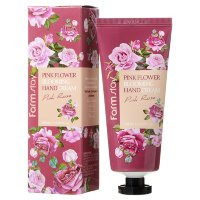 Крем для рук Farmstay Pink Flower Blooming Hand Cream Pink Rose