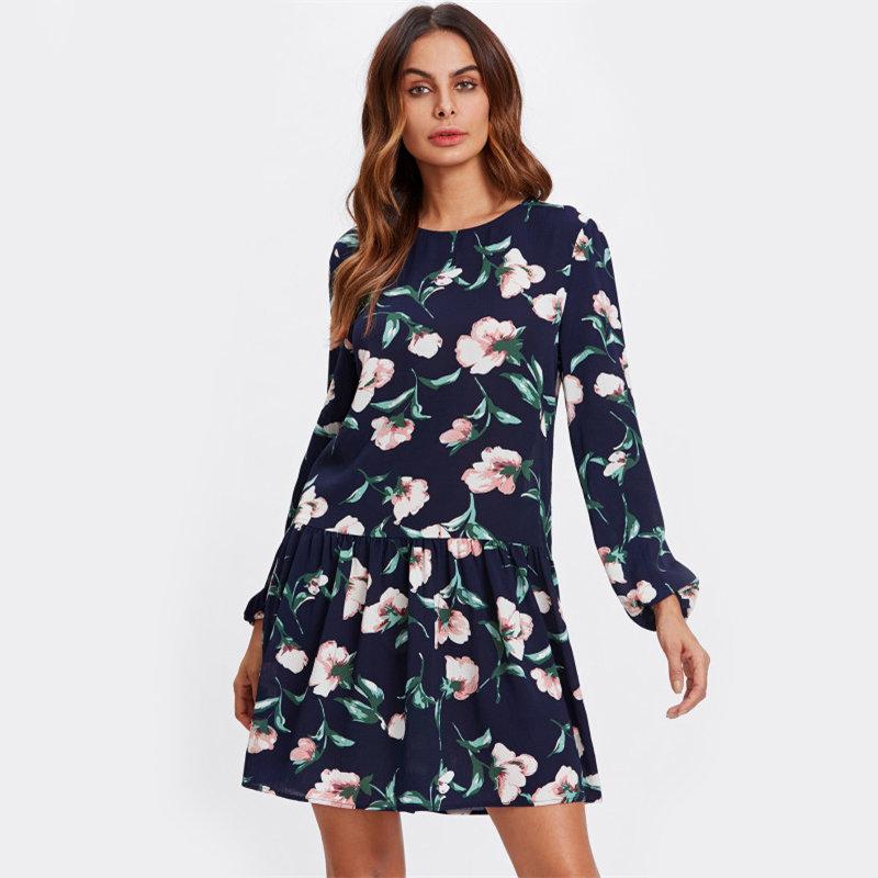 Купить Осеннее платье с длинным рукавом в интернет магазине WOMANLIKE 56e8c39083d